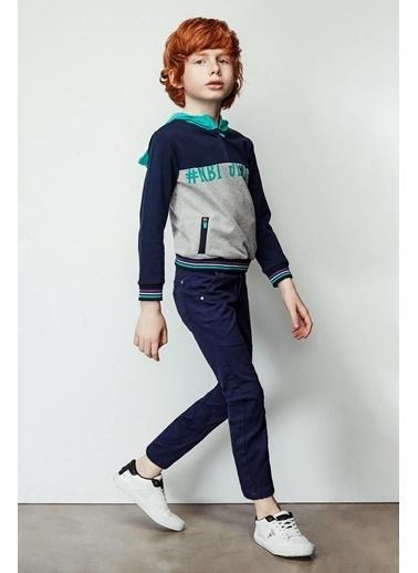 Nebbati Erkek Çocuk Mavi Sweatshirt Lacivert